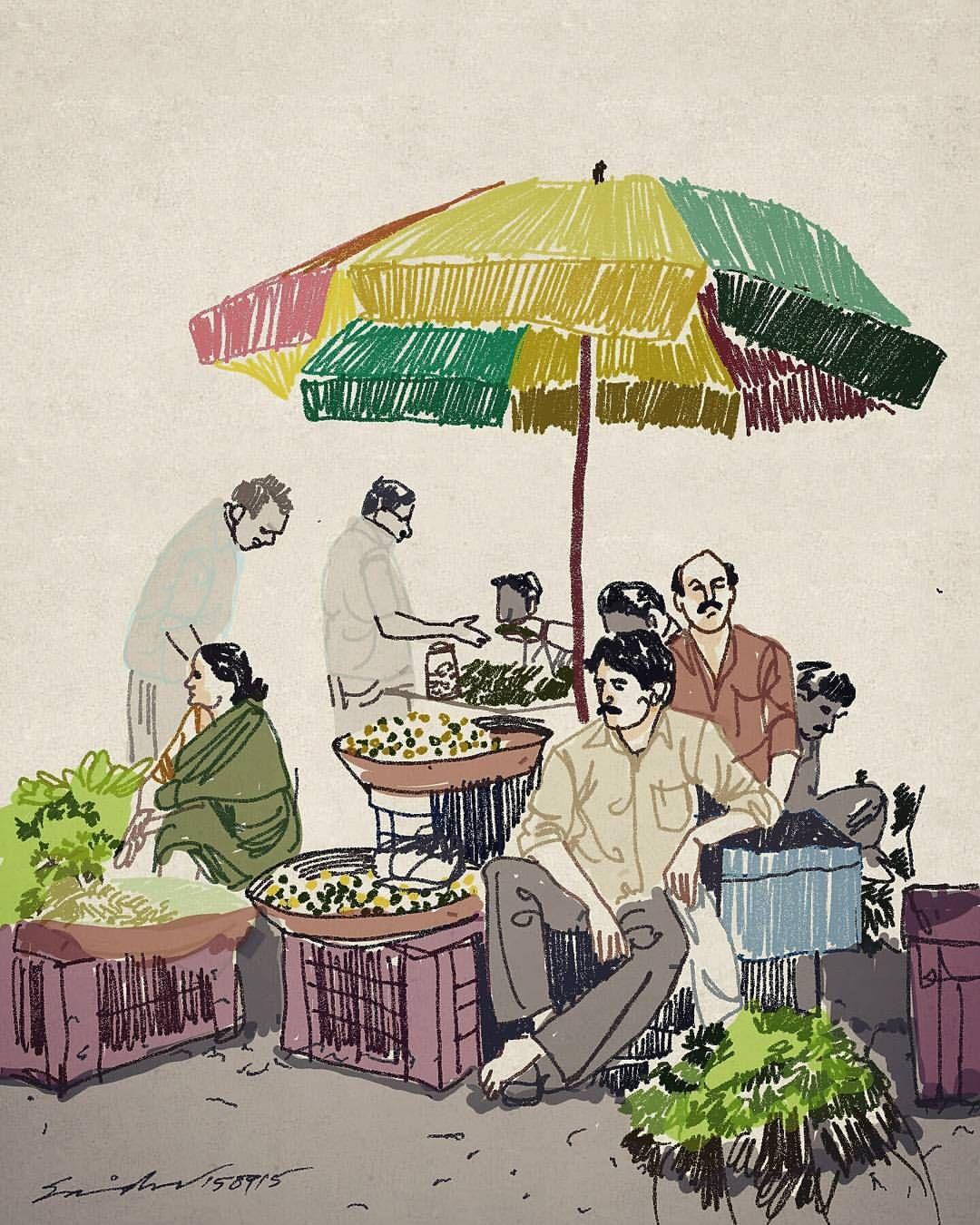 Market shopping vegetables 