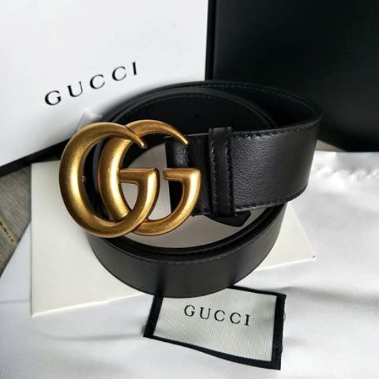 bbcdd5162 Gucci Black leather belt with Double G Gold buckle fits 34-36 #fashion # clothing #shoes #accessories #mensaccessories #belts (ebay link)