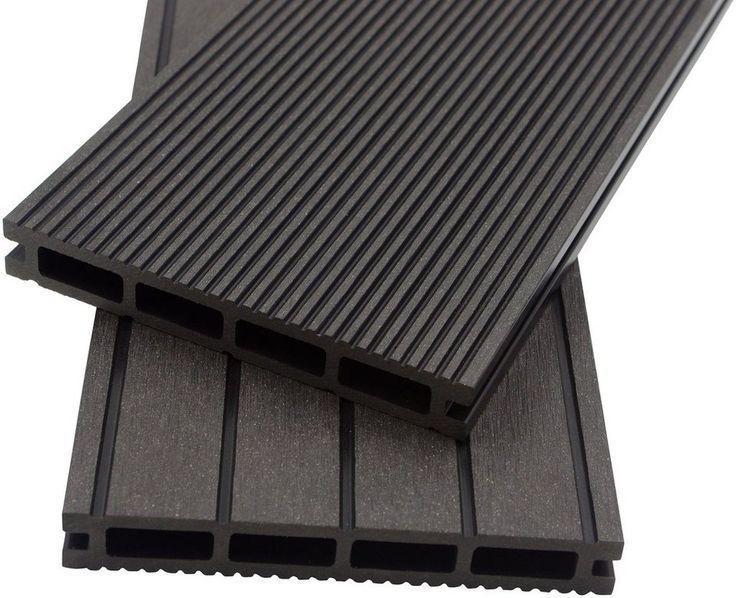 Home Deluxe Komplett Set Wpc Terrassendielen Inkl Unterkonstruktion 20 M Anthrazit With Images Home Home Decor Wood
