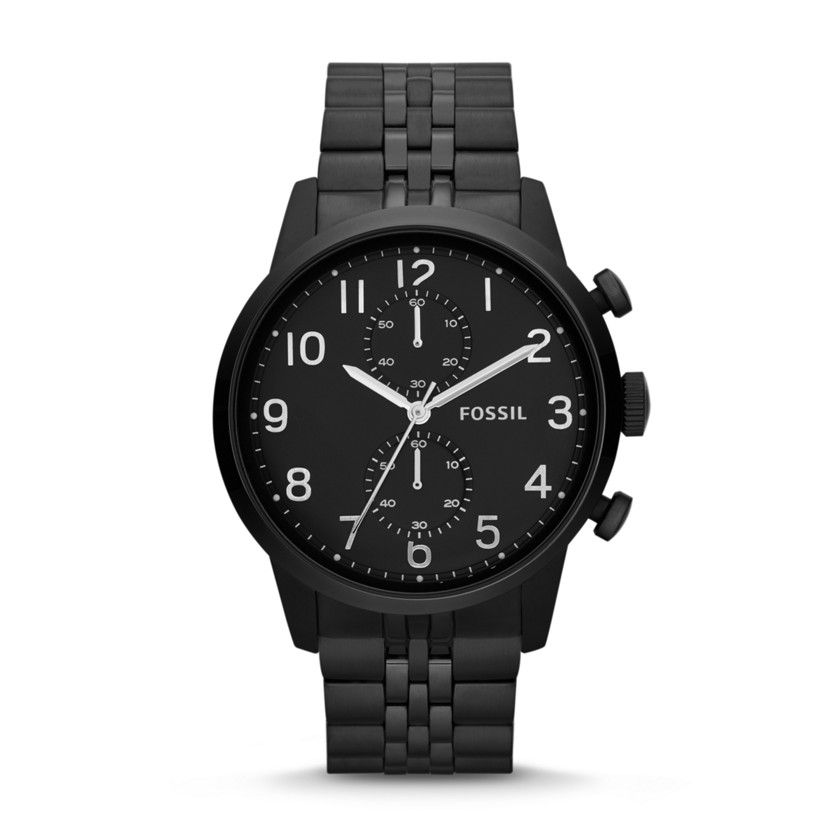 Fossil Townsman Chronograph Stainless Steel Watch - Black| FOSSIL® Watches