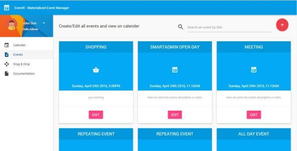 Download Free Mean Stack - Manage Events-Scheduls in Calender using