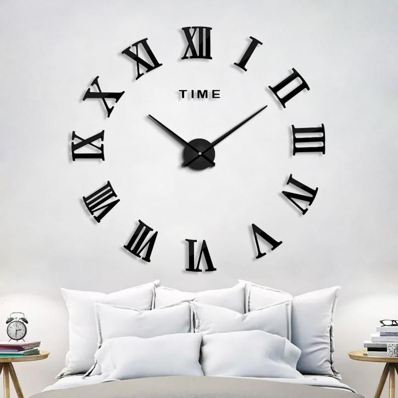 2019 New Homedecoration Wall Clock Big Mirror Wall Clock Modern Design Large Size Wall Clocks Diy Wall Stic In 2020 Diy Clock Wall Mirror Wall Clock Wall Clock Modern