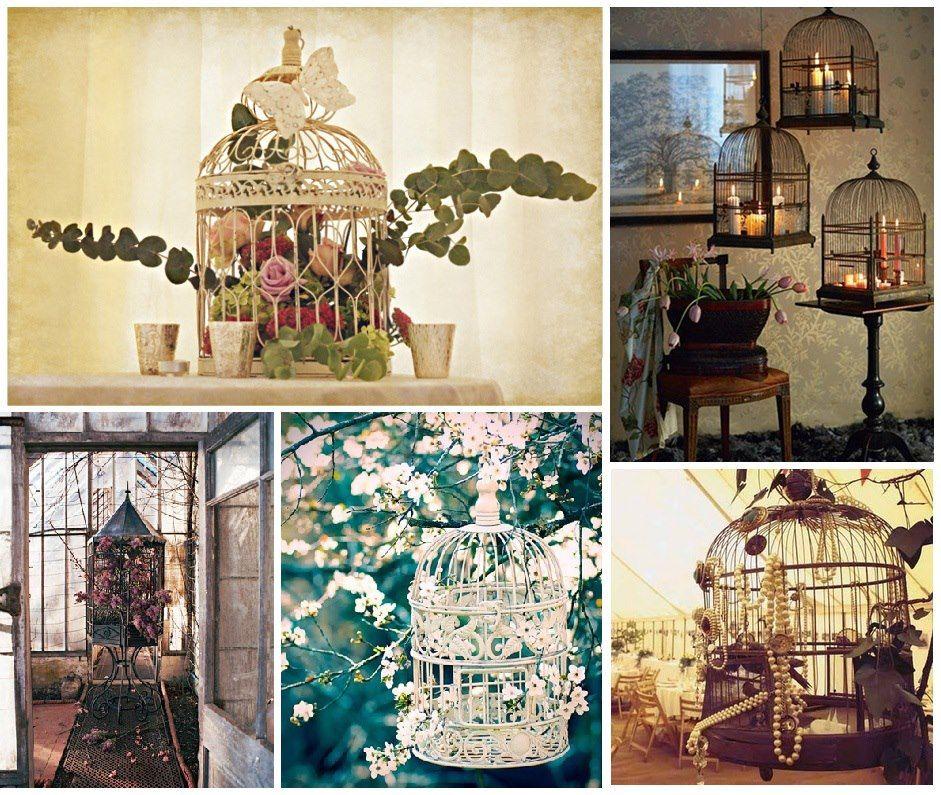 Gaiolas...  #inspirações  Ficam lindas na decoração...  Você pode usar flores, velas...