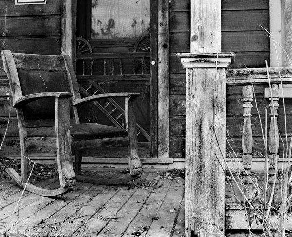 A Real Southern Porch Isnt Complete Without Rocking Chair And An Old Screen