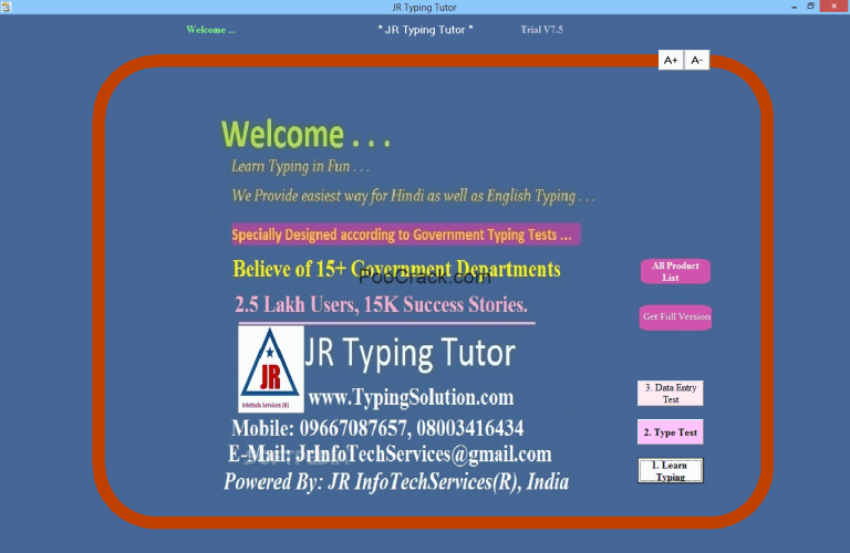 JR Typing Tutor 9 40 Crack With Serial Key For MacOS 2019