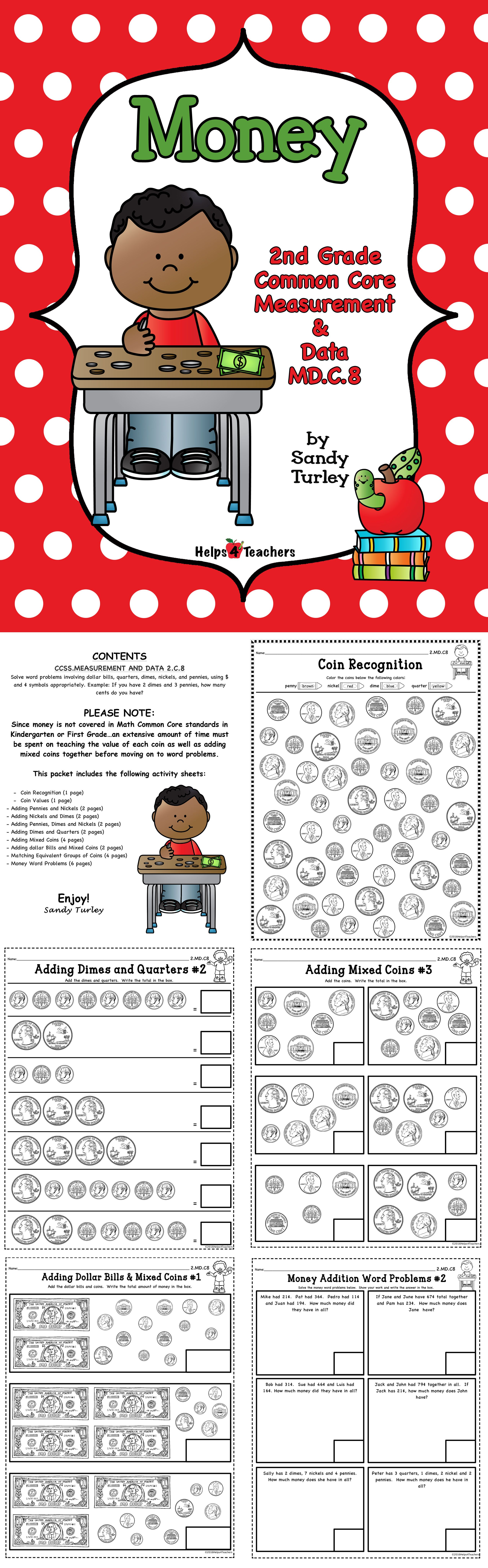 CCSS.MD.C.8: 2nd Grade-MEASUREMENT and DATA: MONEY | Common cores ...