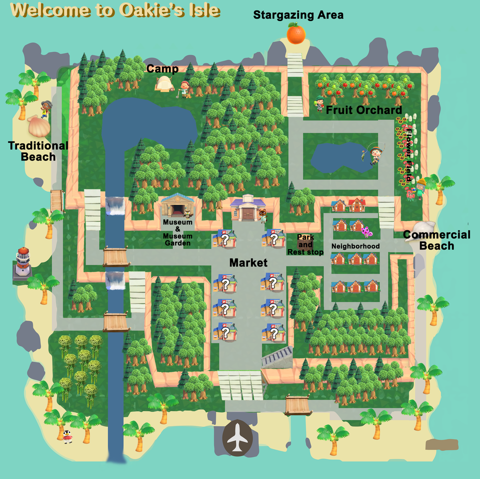 Acnh Island Layout Google Search In 2020 Animal Crossing New