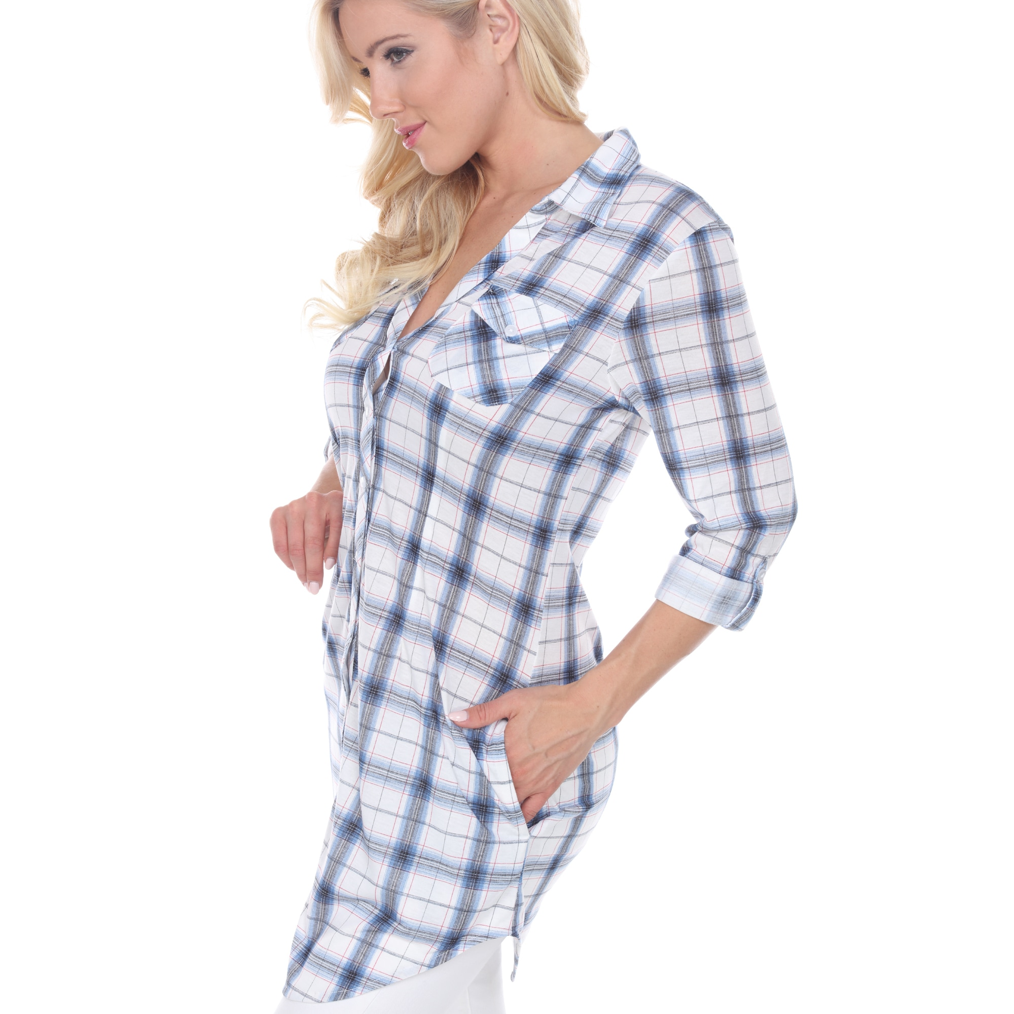 Red flannel nightgown  White Mark Piper Plaid Tunic RedBlack  L Womenus Size Large