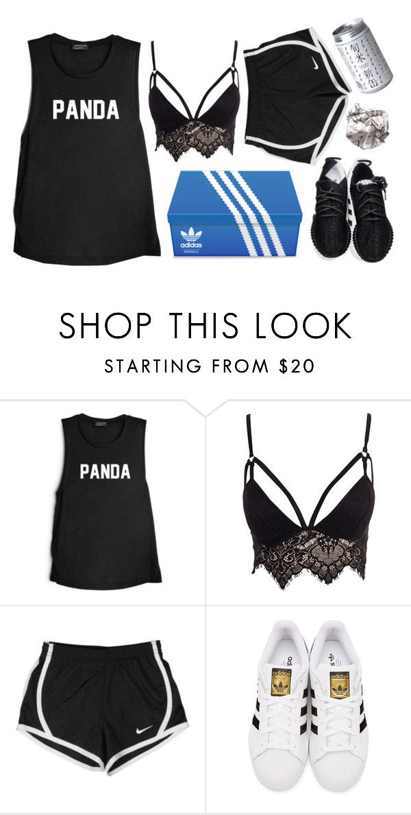 """#201"" by mel-from-tatooine ❤ liked on Polyvore featuring Club L, NIKE, adidas Originals and adidas"