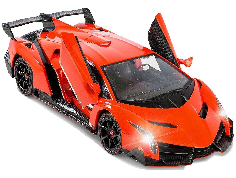 Super Car Orange Lamborghini Veneno Battery Operated Gravity Sensing Remote Control Car Kids Favorite Toy 1 Remote Control Cars Lamborghini Veneno Super Cars