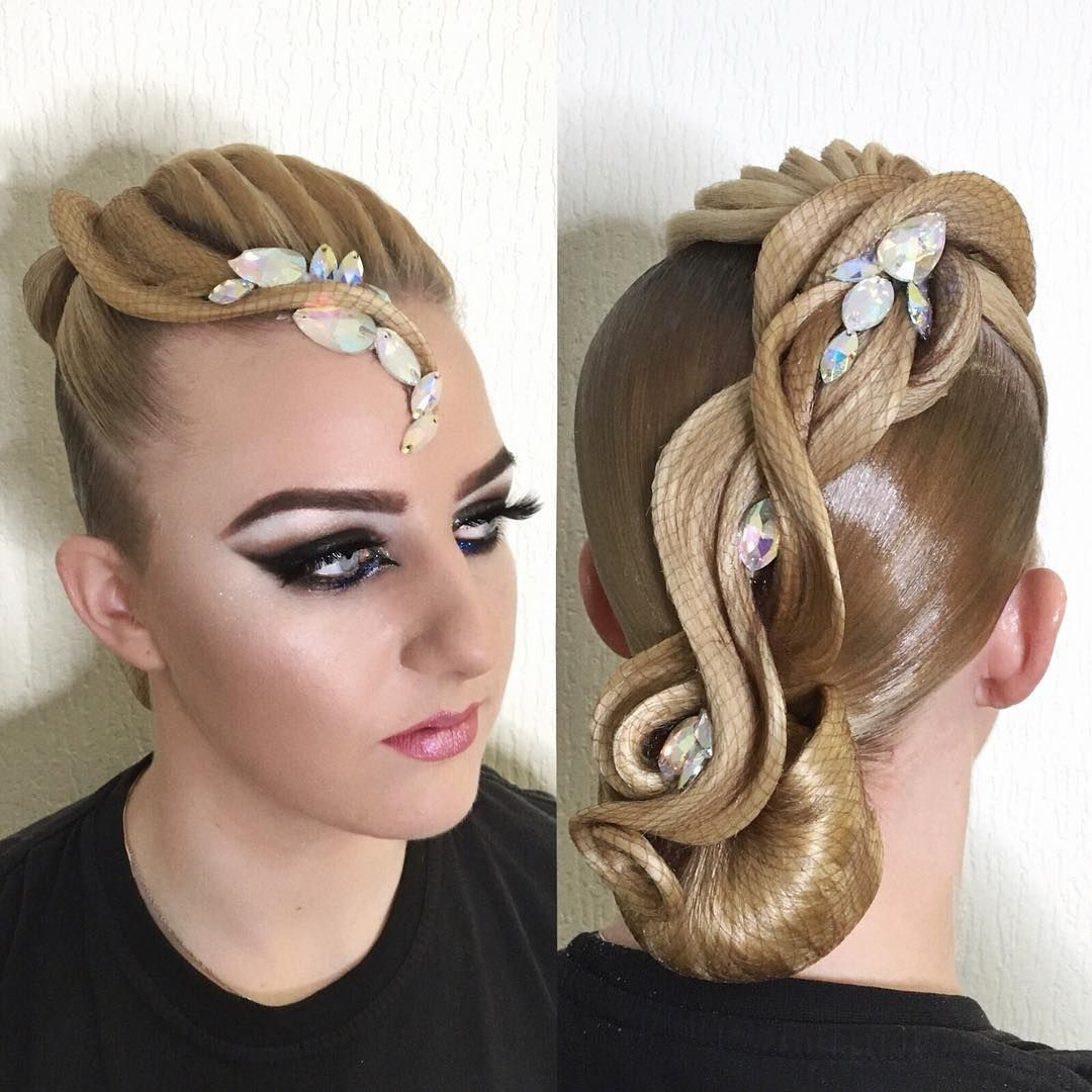 153 Likes 3 Comments Imidzh Studiya In Style Ingroup Pro On Instagram Pricheska Vypolnena Masterom S Dance Hairstyles Ballroom Dance Hair Competition Hair