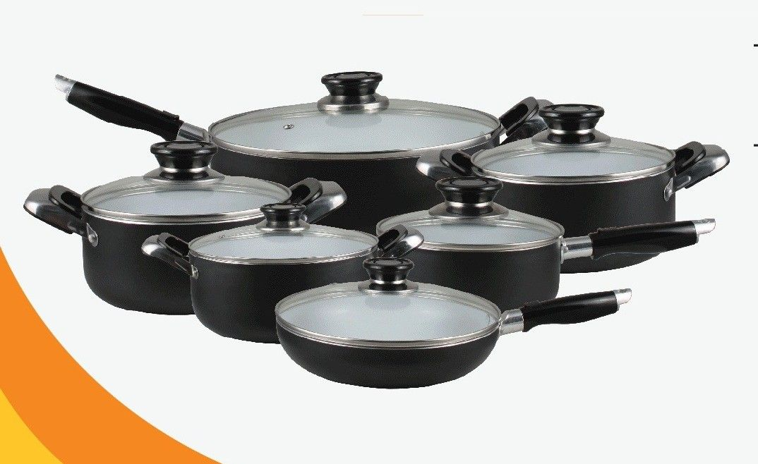 Marigold Houseware Healthy Choice 16 Piece Ceramic Cookware Set