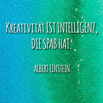 """Lumos Denkspiele – Schönes Einstein Zitat """"Kreativität ist Intelligenz, die Spaß hat."""""""