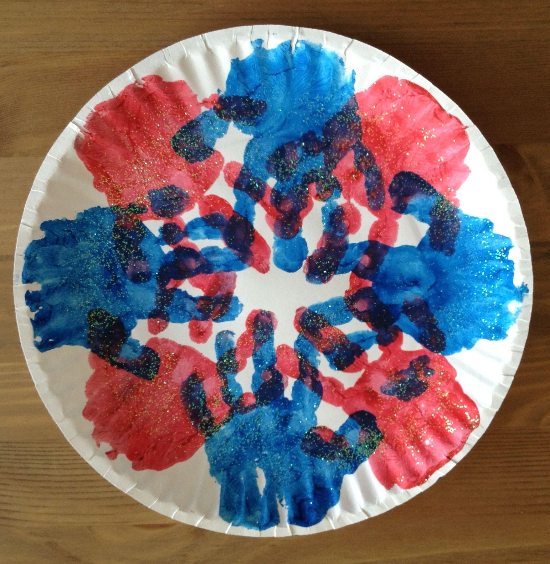 Handprint Firework Craft