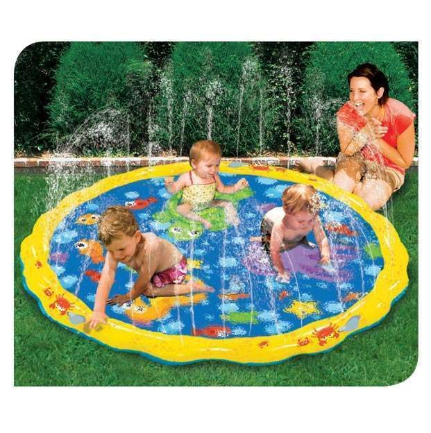 Outdoor Cool Water Toys For Baby Kids Large 54 Splash Play Mat Backyard
