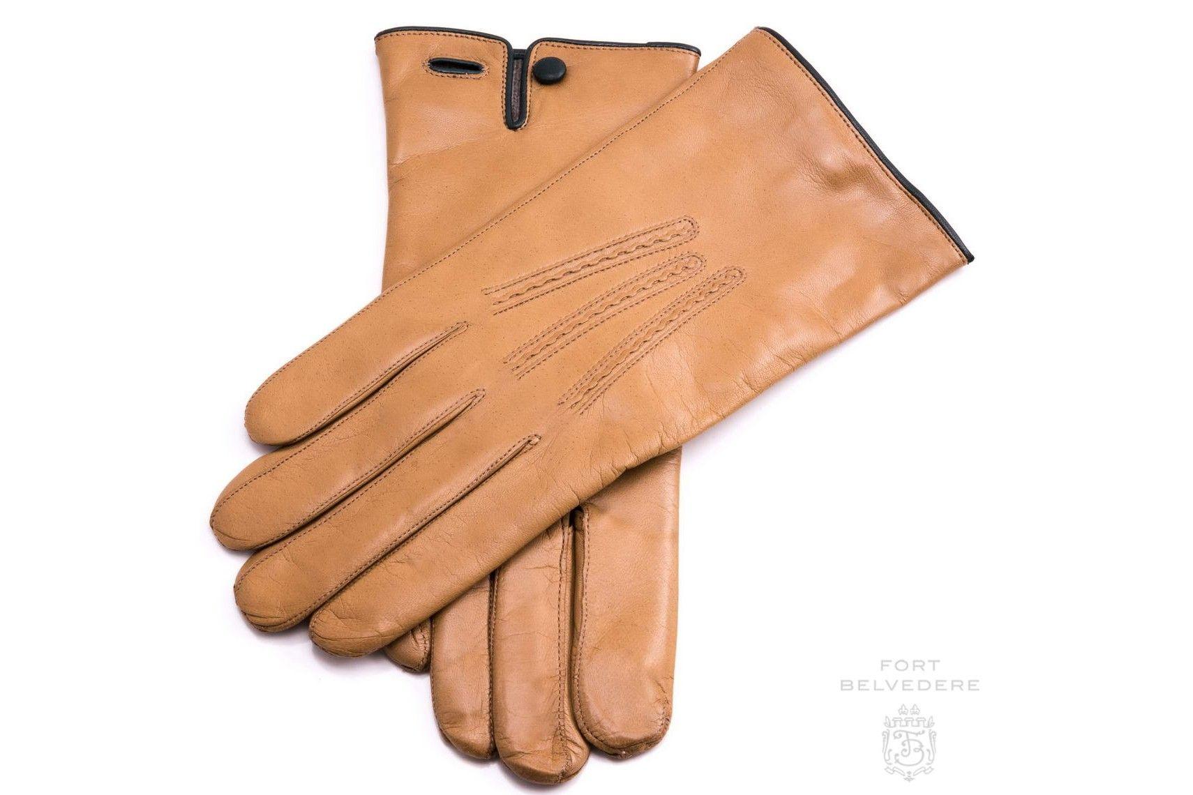 "Measure hand but 9"" = size 9 Classic Cognac Tan Brown"