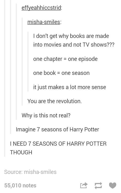 Or in the case of PLL, you can get what like five, six, or seven seasons out of one book. I don't think there were seven PLL books.