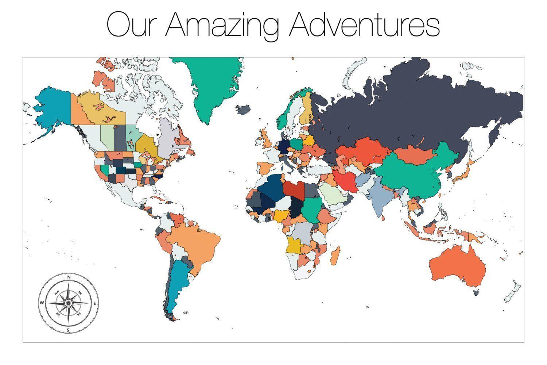 World Map Poster Push Pin Map Push Pin Travel Map Push Pin Map - World map poster push pins