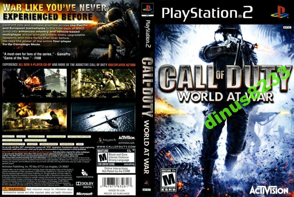 Call Of Duty Ps2 3208938506 Oficjalne Archiwum Allegro Call Of Duty World Call Of Duty War