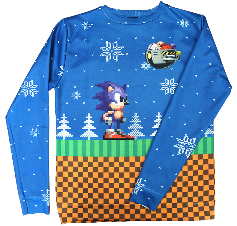 Sonic The Hedgehog Official Christmas Sweater Geekery Pinterest