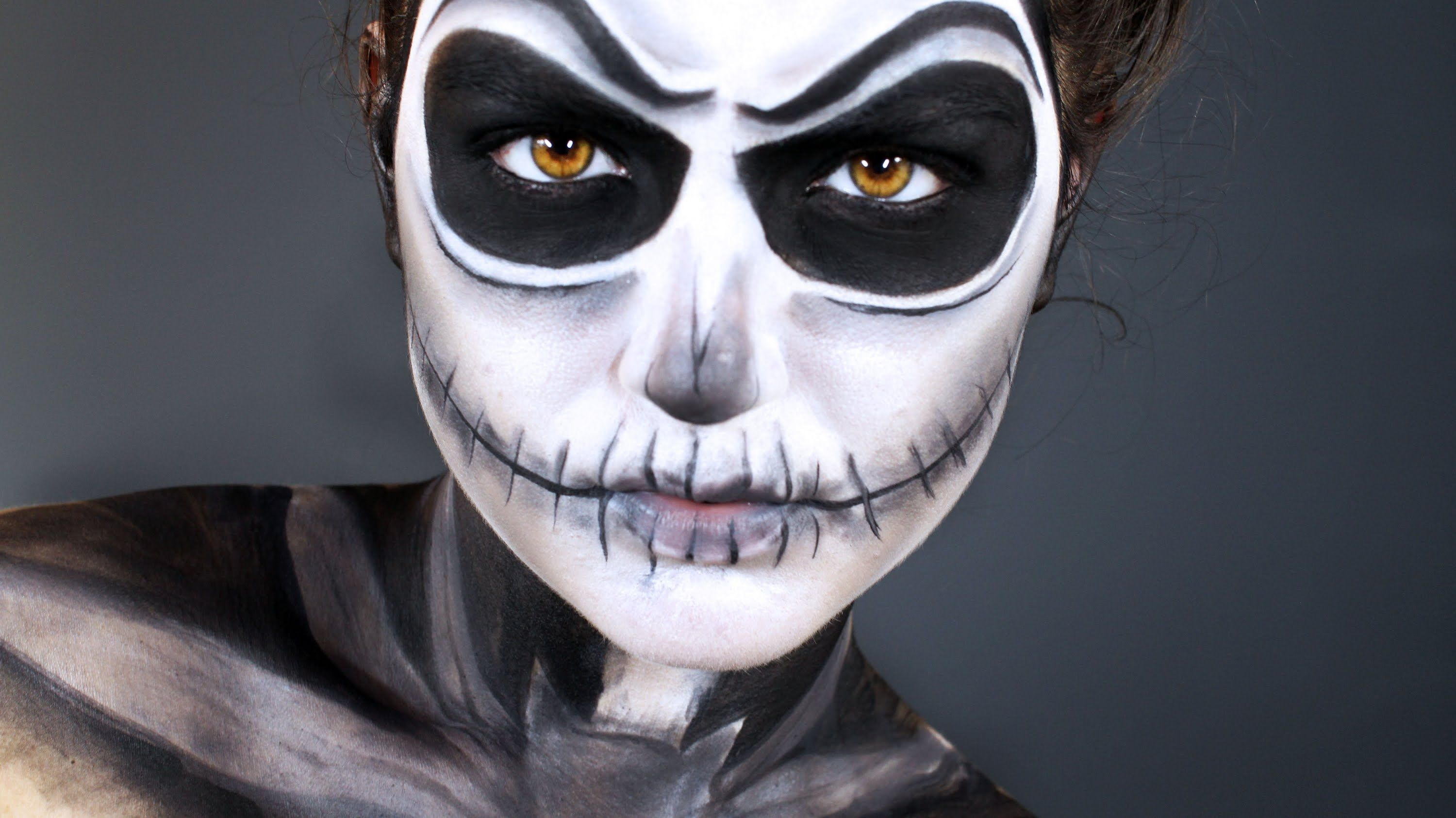 Jack Skellington Halloween Makeup Tutorial Pumpkin