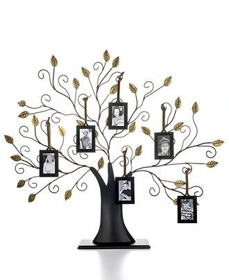 Leeber Picture Frames Family Tree With Set Of 6 Hanging Frames