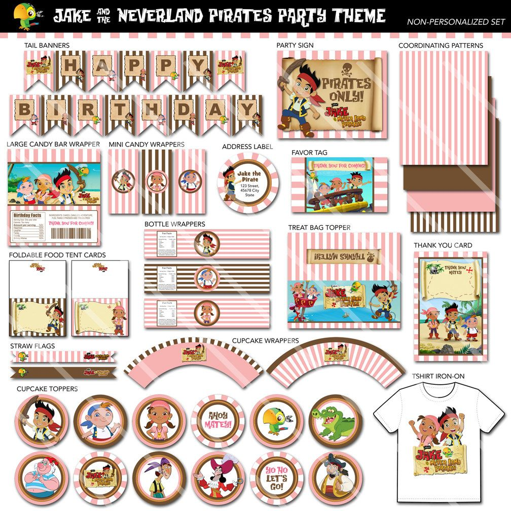 Jake and the Neverland Pirates Printable Birthday Party Package ...