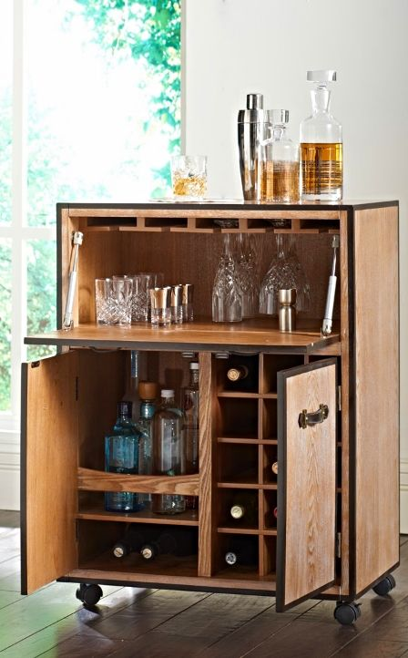 Move the party from room to room with our portable Galway Mobile Bar Cart.