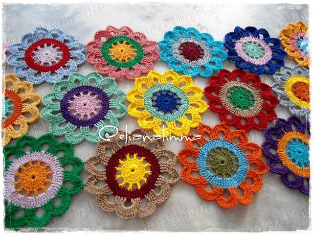 louca por linhas - crochet e patchwork: Caminho de mesa floral