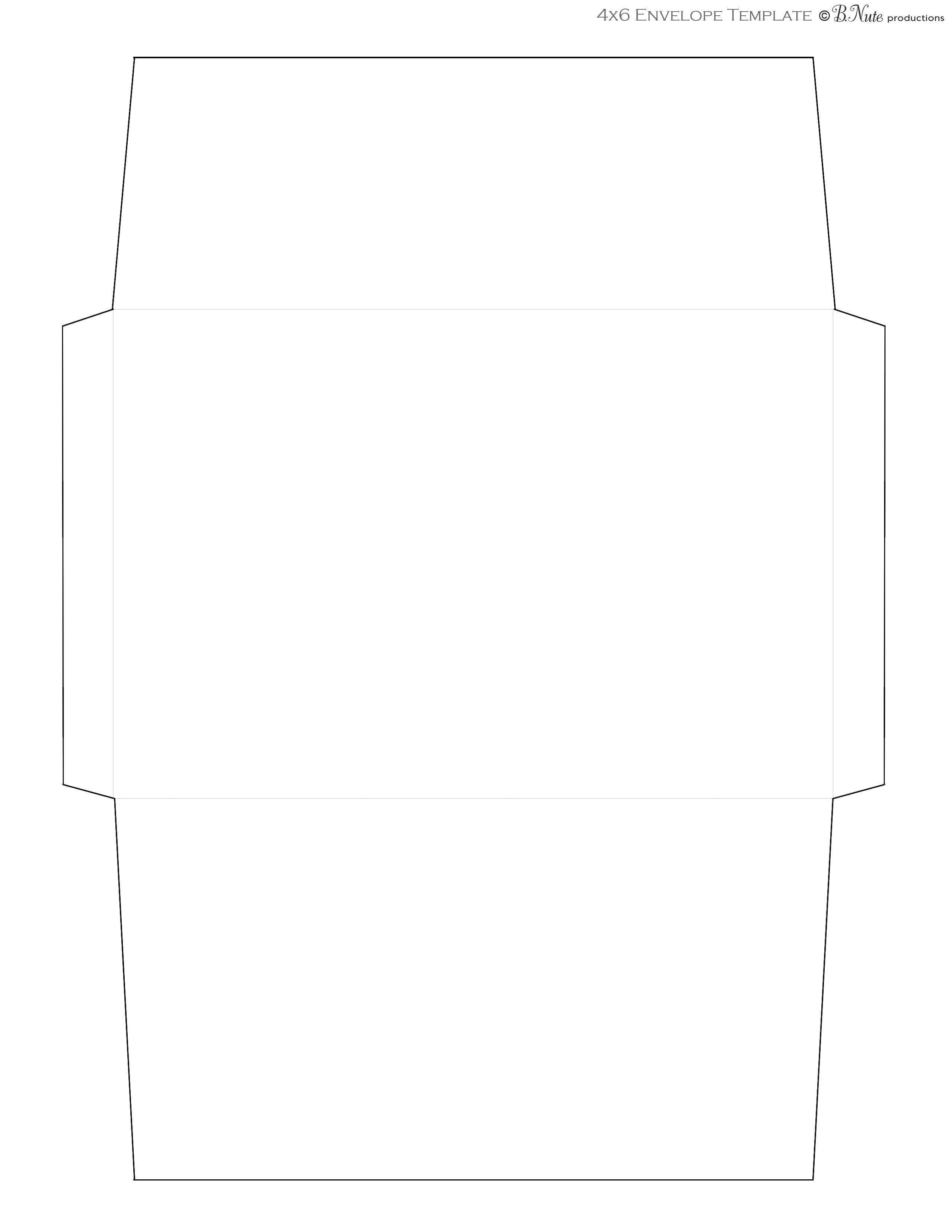 Free Printable Envelope Templates 2 Sizes