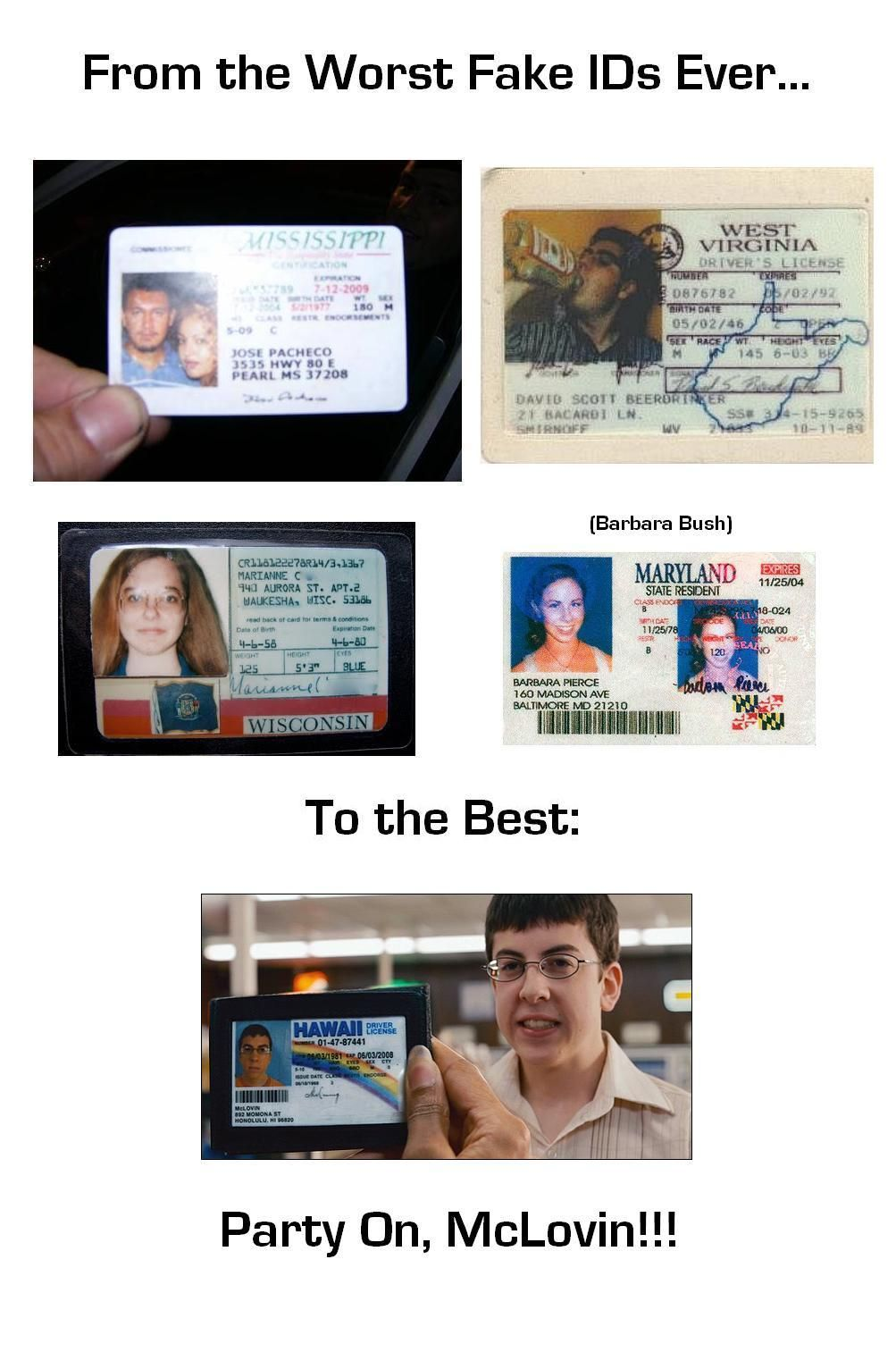 Get your scannable fake id today card template cards