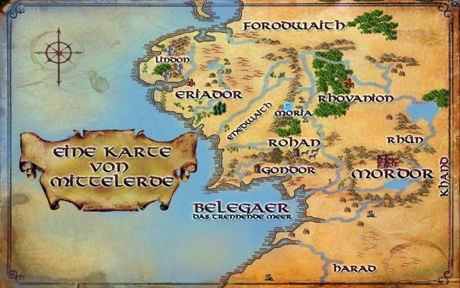 Karten Von Tolkiens Mittelerde Faszination Tolkien Mittelerde