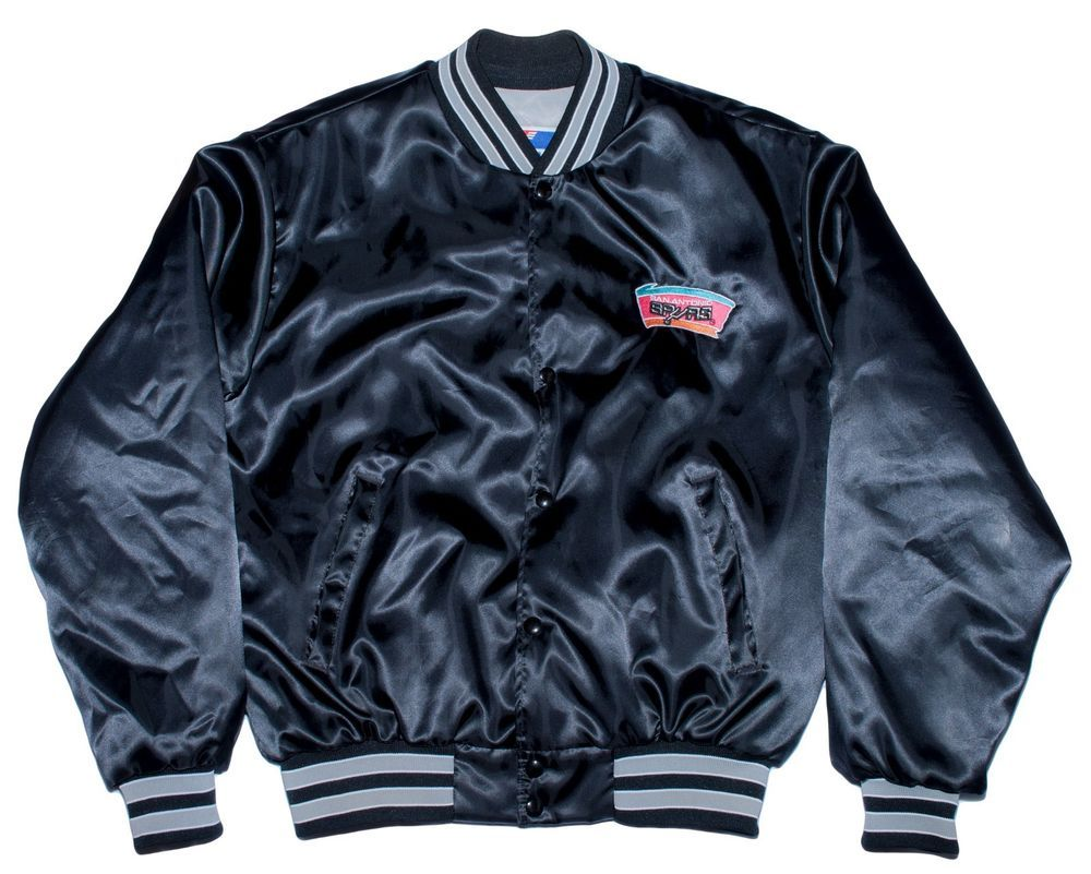 Vtg NBA San Antonio Spurs Satin Jacket Swingster Chalk Line Basketball  Large L  nba  playoffs  vintage  sanantonio  spurs  basketball  sports  rare   1980s ... fa5097a71