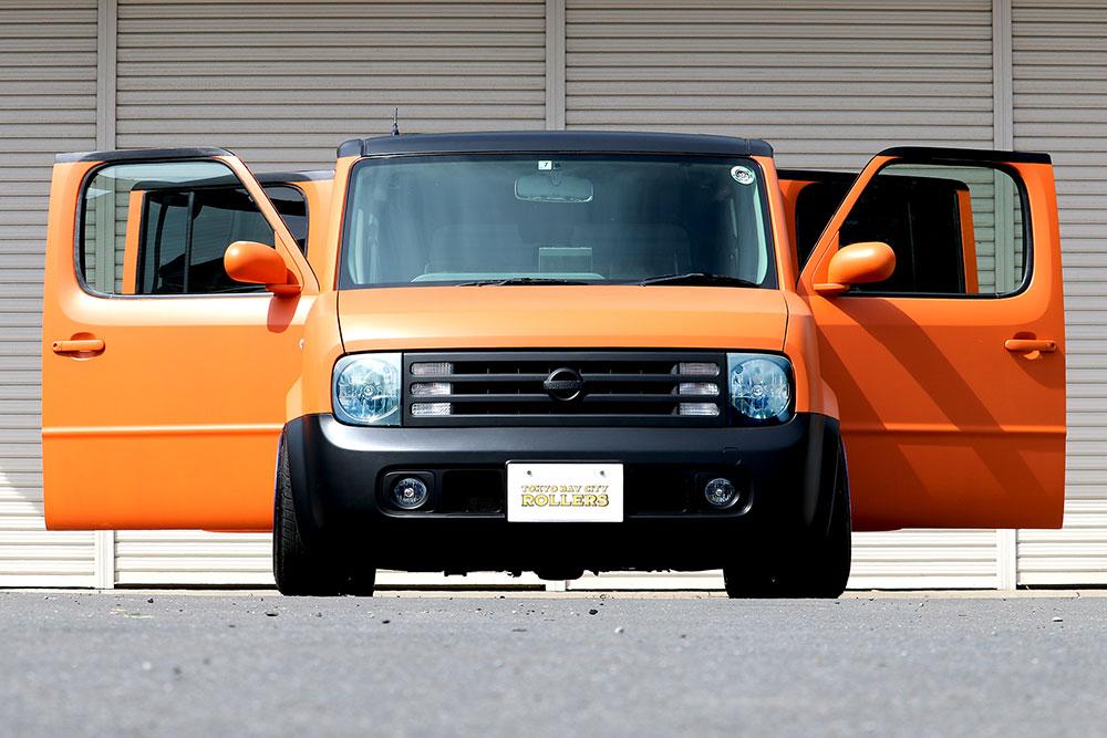 日産 キューブをセレンゲッティオレンジで刷毛塗り全塗装 日産キューブ 日産 車 塗装 Diy