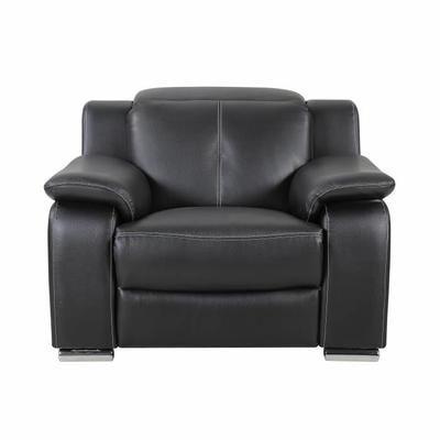 KEONA Fauteuil de relaxation électrique Cuir et simili noir