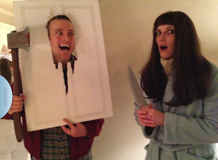 the shining christmas party costume best couples costume ever - The Shining Halloween
