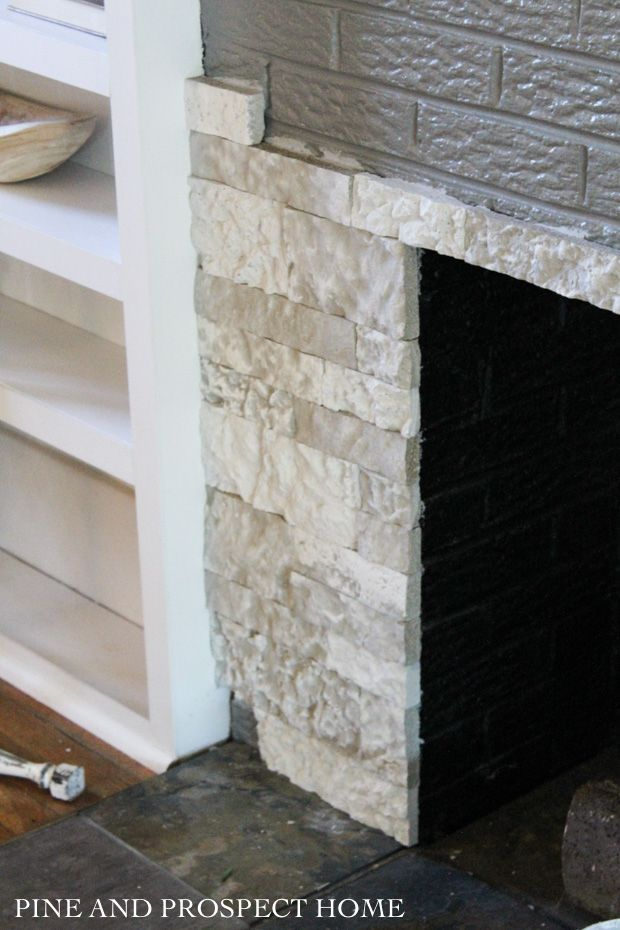 Brick Fireplace Makeover with AirStone - Pine and Prospect Home