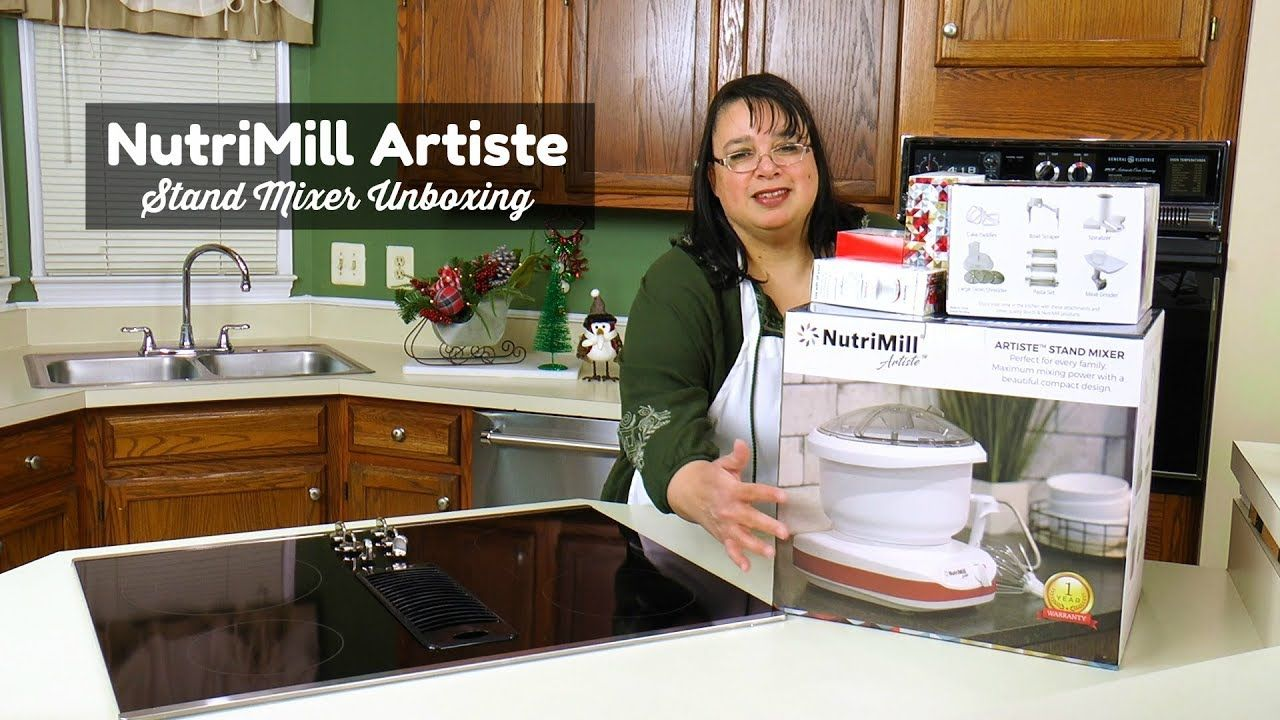 Nutrimill artiste stand mixer unboxing buying a stand