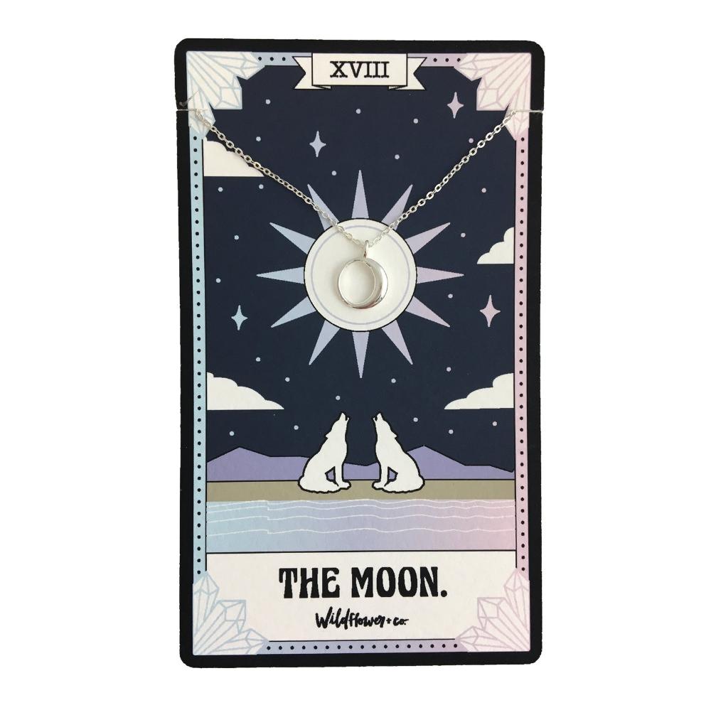 Tarot Necklace Lovers Rose Moon Sun Justice Hand Etsy The Moon Tarot Card The Moon Tarot Tarot Cards