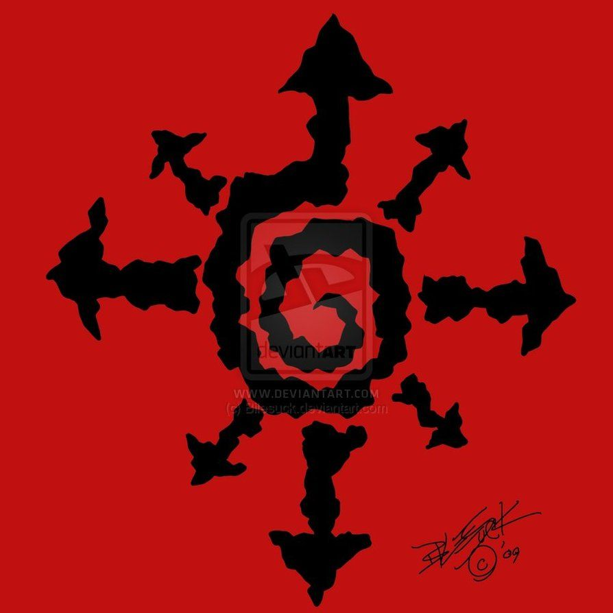 Tribal Chaos Symbol By Bilesuck Art Its Everywhere Pinterest