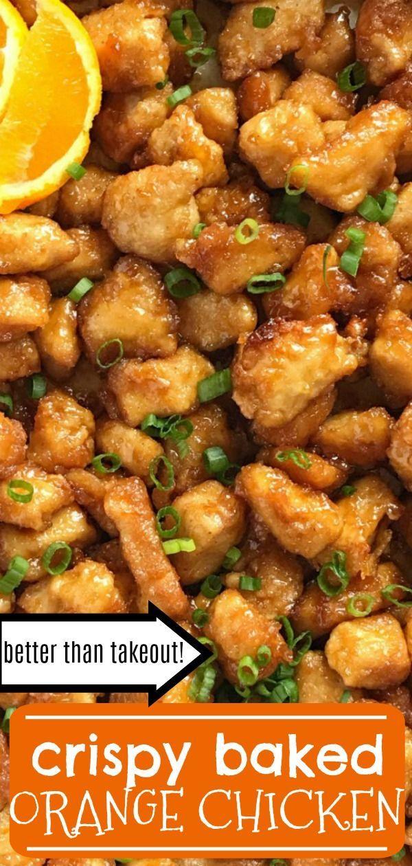 Baked Orange Chicken #chinesemeals