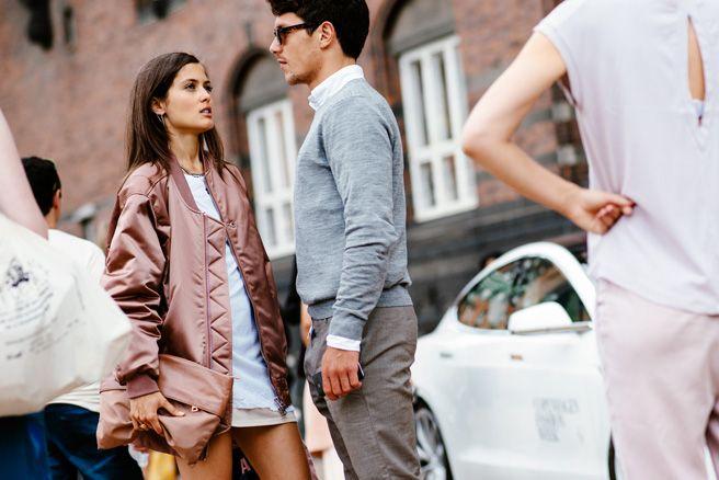 Just loving her jacket. Copenhagen Fashion Week Street ...