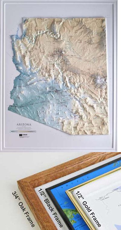 Map Of Arizona Only.Globes And Maps 102952 Arizona State Raised Relief Map Raven Style