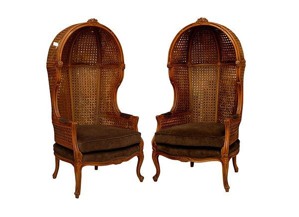 Wonderful Woven Wooden Canopy Chair