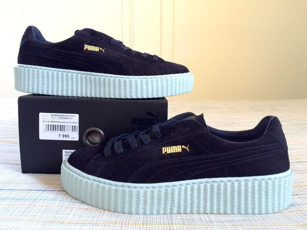 pretty nice 5132c c8f67 Puma x Fenty by Rihanna Suede Creepers Peacoat Cool Blue ...