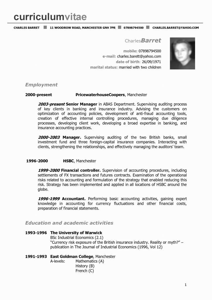 Resume format in usa in 2020 with images downloadable