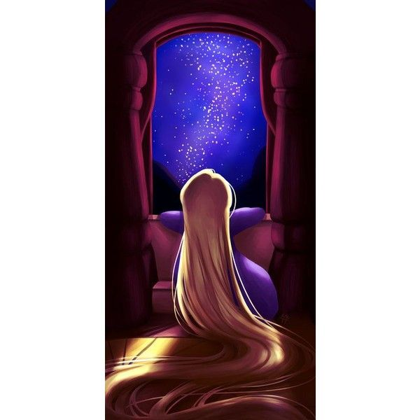 Rapunzel Tangled Art Print ❤ liked on Polyvore featuring home, home decor, wall art, disney, disney home decor and disney wall art