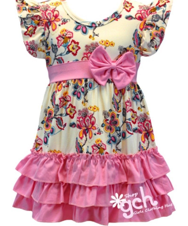 3044abf34b70 Pink Floral Spring Easter Dress girl s size 4 5 6 7 8 10 12 14 16 ...