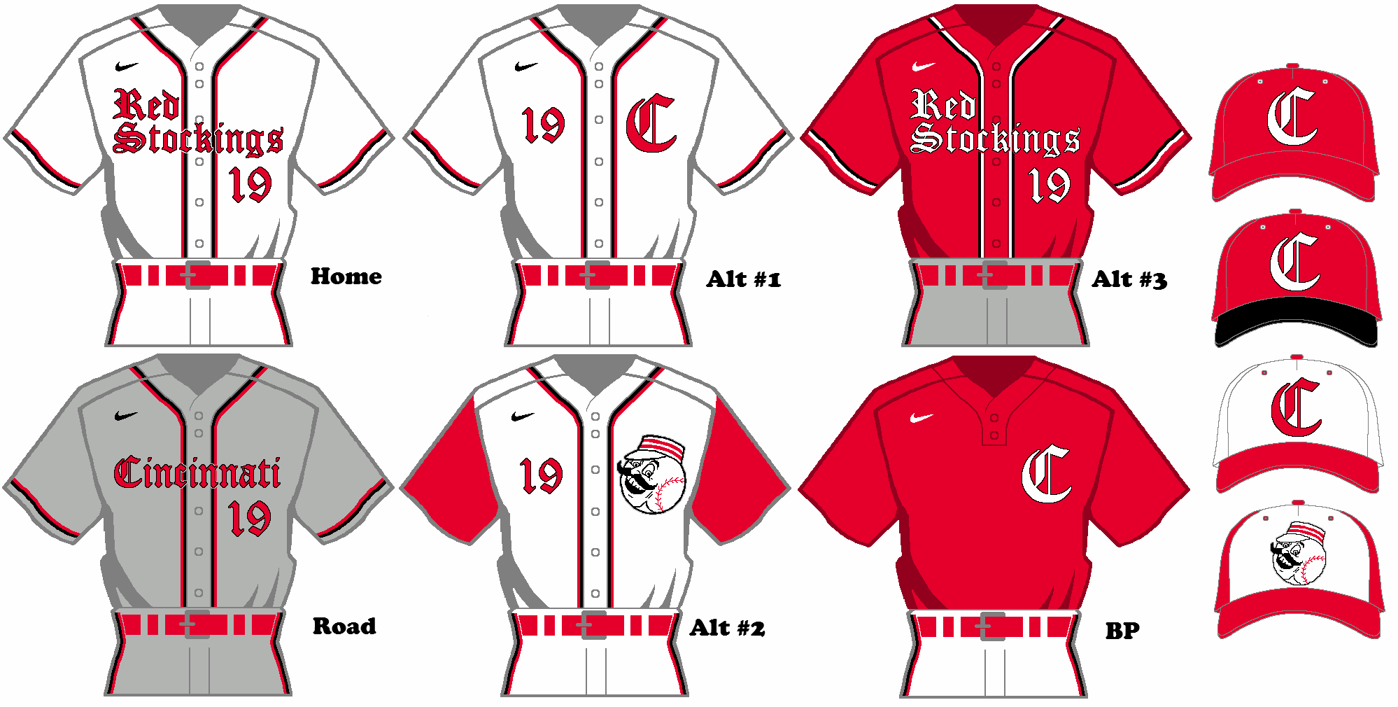 the best attitude c1352 c8f7d Nike MLB Rebrand Concept - Cincinnati Reds Uniform Set