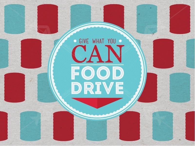 Food Drive PowerPoint | Slide 1 | Food drive, Food drive flyer, Canned food